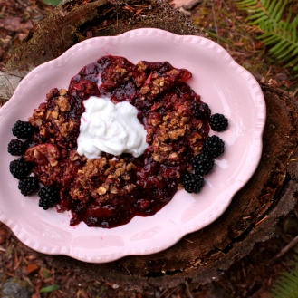 Gluten-Free Blackberry, Apple, Plum Crumble https://bigsislittledish.wordpress.com/2014/08/17/blackberry-apple-plum-crumble-gluten-free-gabriola-island/