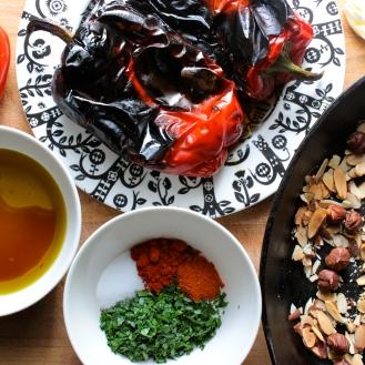 Romesco Sauce https://bigsislittledish.wordpress.com/2014/10/11/whole-roasted-cauliflower-with-romanesco-sauce-romanesco-sauce-with-everything/