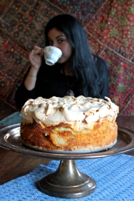 Goddess Apple Cake with a Meringue Topping (gluten-free)