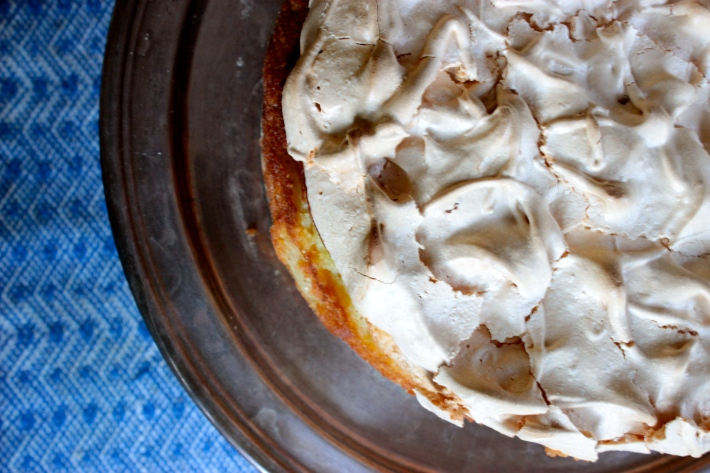 Goddess Apple Cake with a Meringue Topping