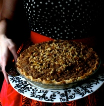 Sour Cream and Apple Pie with Walnut Crumble (Gluten-Free)