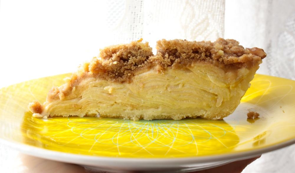 Sour Cream Apple Pie with Walnut Crumble (Gluten-Free)