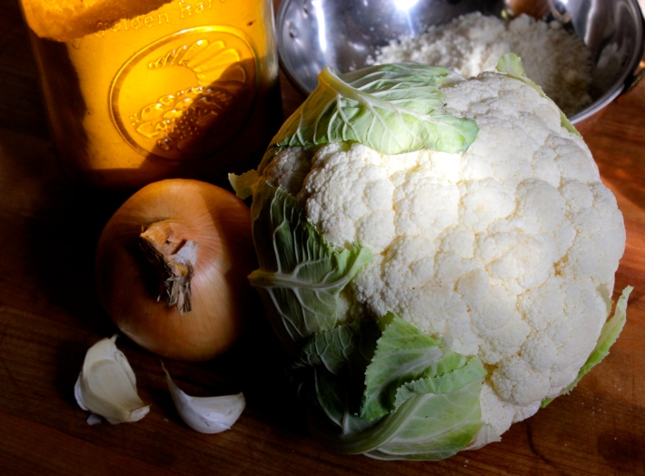 Cauliflower Almond Turmeric Soup