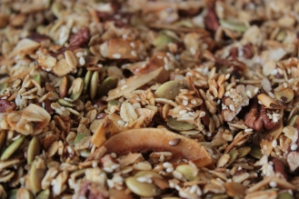 Maple Nut Granola https://bigsislittledish.com/2014/12/21/maple-nut-granola-for-snack-skeptics/