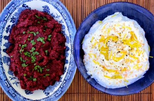 Beet Caviar and Whipped Ricotta https://bigsislittledish.wordpress.com/2014/12/31/happy-new-year-whipped-ricotta-and-beet-caviar-served-on-seed-and-nut-bread/