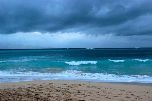 Baldwin Beach, Maui before a storm