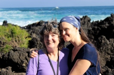 Me and my Mum at Ke'anae Penninsula