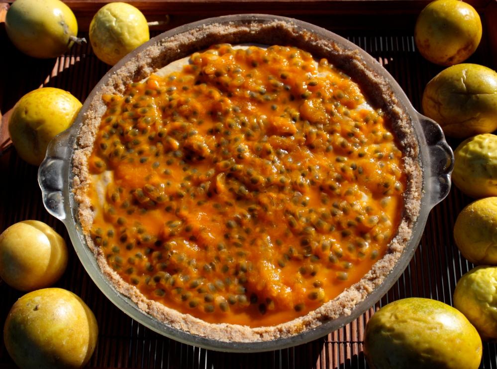 Passionfruit Cream Pie (Gluten-Free and Vegan)