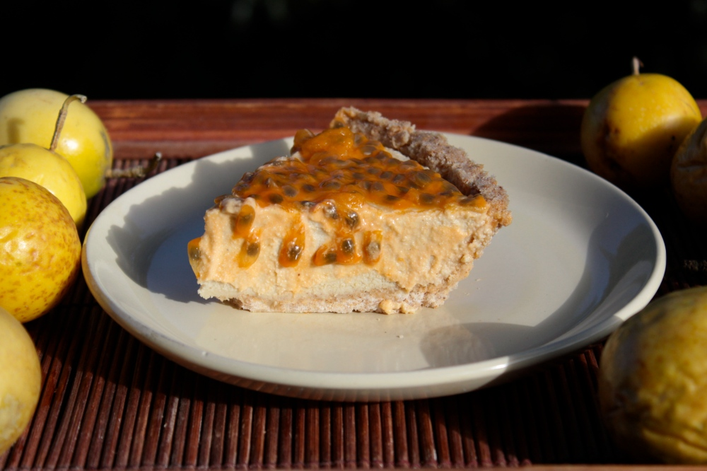 Passionfruit Cream Pie (Gluten-Free and Vegan)