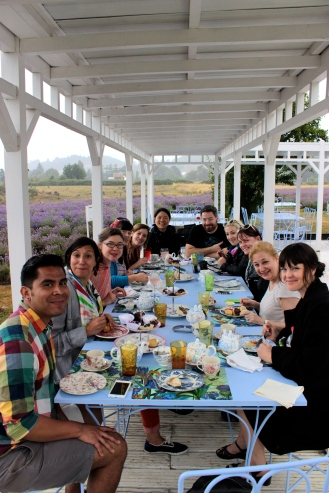 Tea at the Lavender Farm, Frutillar, Chile