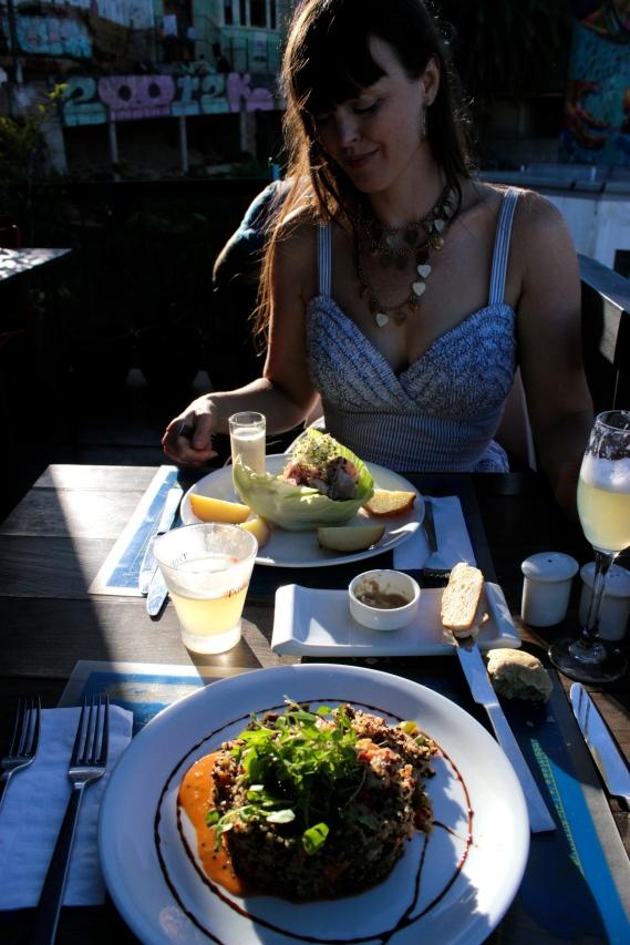 Eating at Fauna, Valparaiso Chile