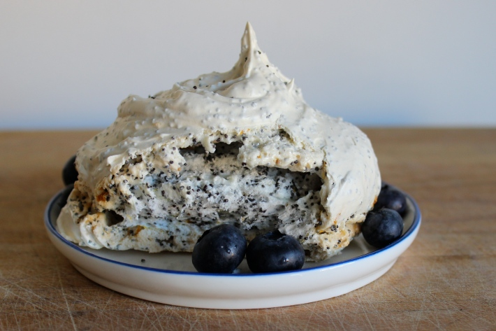Lemon Poppy Seed Meringues