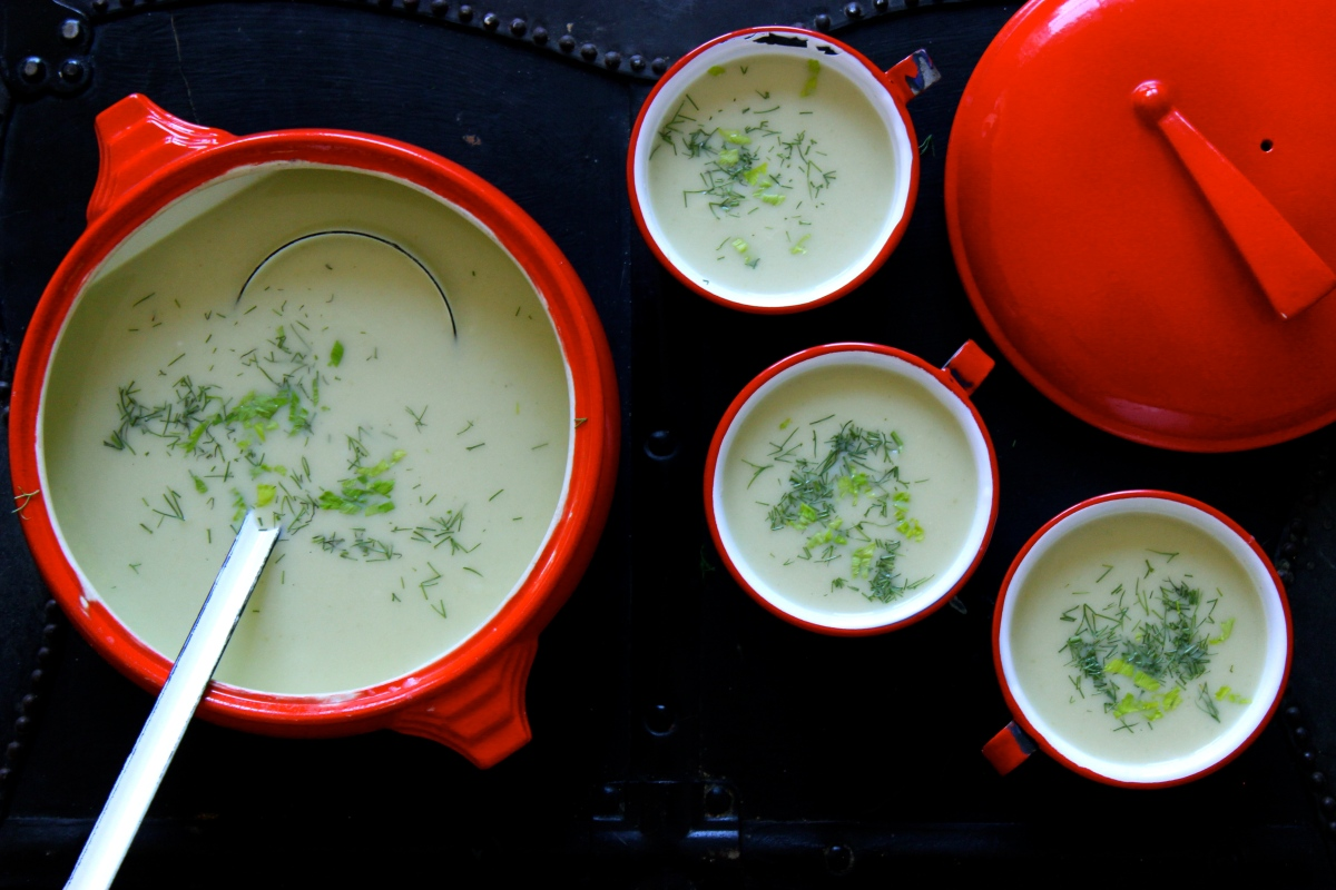 Roasted Celery and Buttermilk Soup