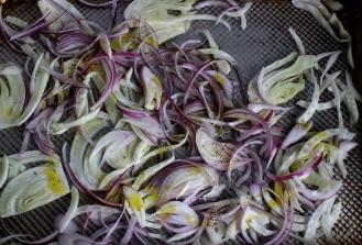 Roasted Radish and Fennel Salad with Walnut Gremolata (Cotton-Tail Salad)