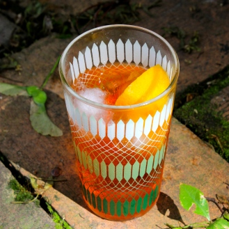 Prosecco Aperol Spritz https://bigsislittledish.wordpress.com/2015/05/28/some-thoughts-on-glamour-prosecco-aperol-spritz-a-serious-champagne-cocktail-bananas-foster/