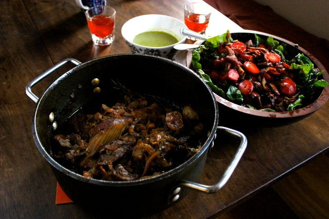 Chinotto Braised Pork with Baby Turnips