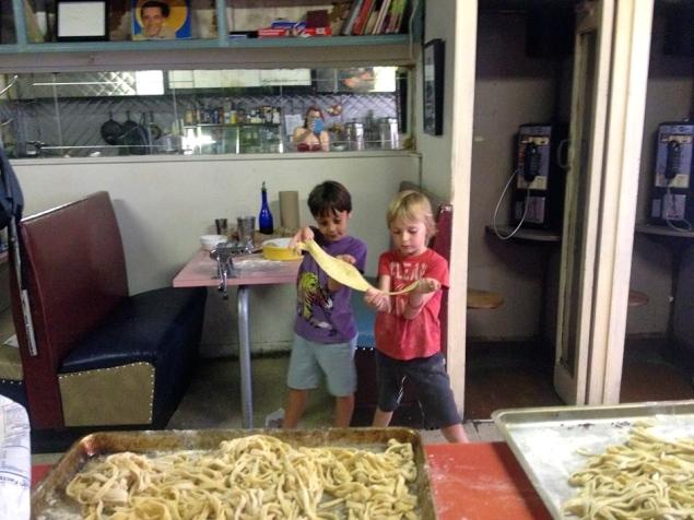 Kid-made pasta