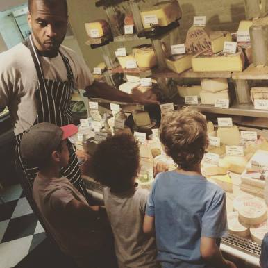 Cheese tasting at Blue Apron Foods