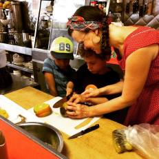 Making Mango Curd with Kids https://bigsislittledish.wordpress.com/2015/08/20/run-a-luncheonette-cooking-camp-with-brooklyn-apple-academy/