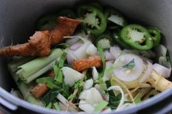 Aromatics for Thai Coconut Chicken Soup