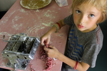 Kid made pasta