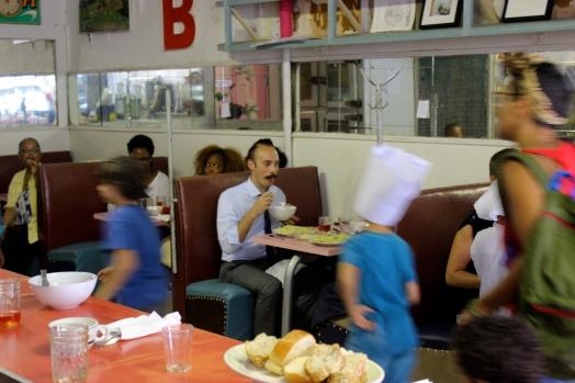 Kids run the Sunview Luncheonette