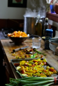 Cooking in the beautiful Freight kitchen