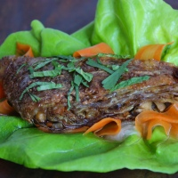 Crispy Yuba Mock Duck with Vietnamese Pickles and Herbs (Vegan and Gluten-Free)