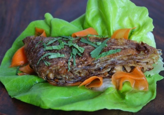 Crispy Yuba Mock Duck with Vietnamese Pickles https://bigsislittledish.com/2016/03/03/crispy-yuba-mock-duck-with-vietnamese-pickles-and-herbs-vegan-and-gluten-free/