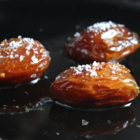 Sautéed and Salted Medjool Dates with Whiskey