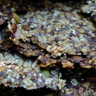 Savory Seed Crackers https://bigsislittledish.com/2016/08/04/tomato-eggplant-appetizer-with-sweet-moroccan-spices-savory-seed-crackers-vegan-and-gluten-free/