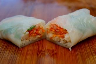 Salad Rolls https://bigsislittledish.com/2016/09/25/salad-rolls-with-dipping-sauce/