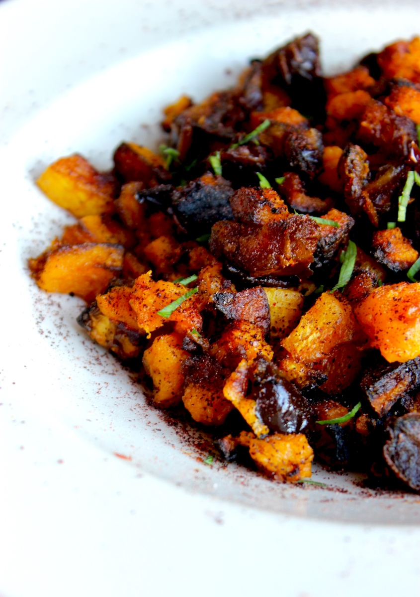 Spiced and Roasted Butternut Squash with Dates