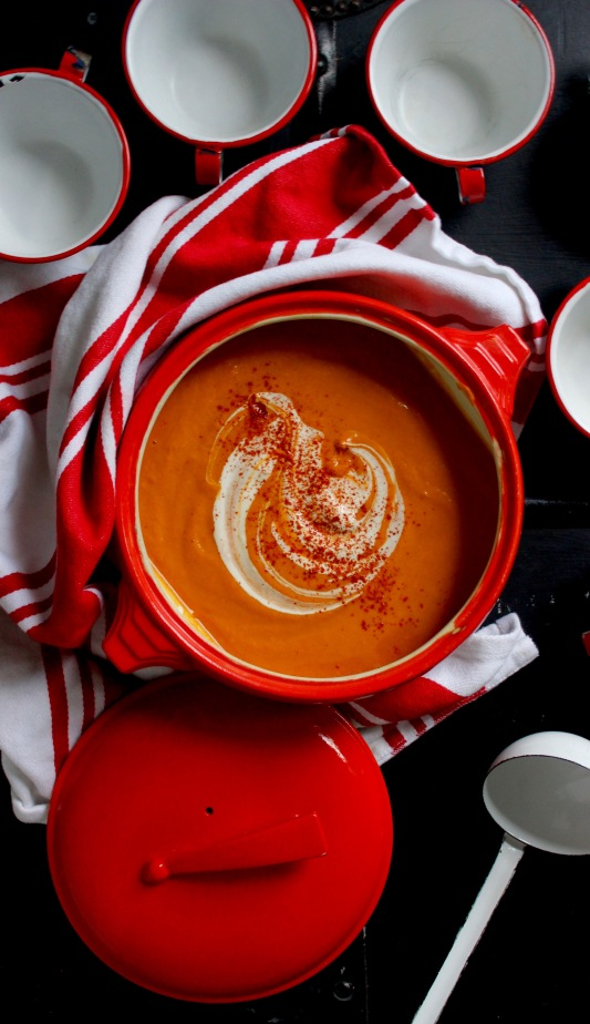 Creamy Butternut Soup with Miso and Smoked Paprika