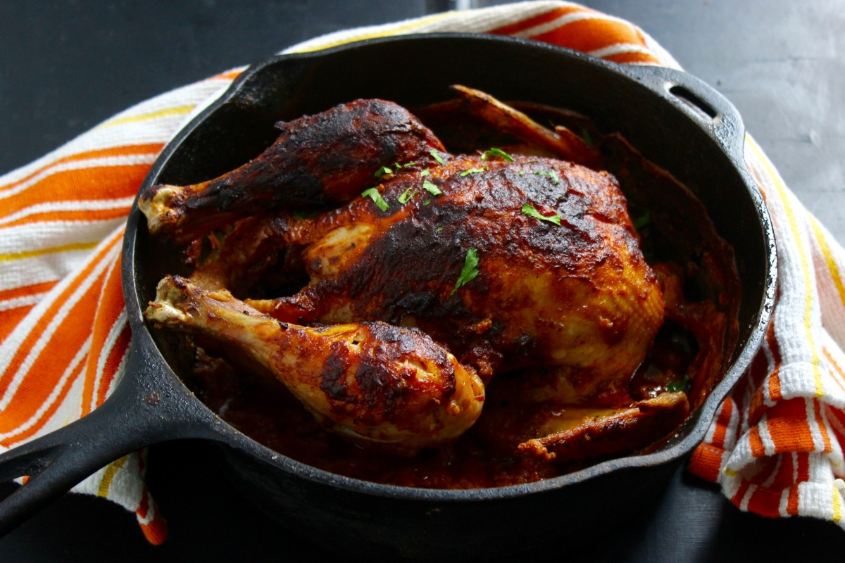 Milk Baked Chicken with Orange Zest, Saffron, Cinnamon and Spanish Paprika