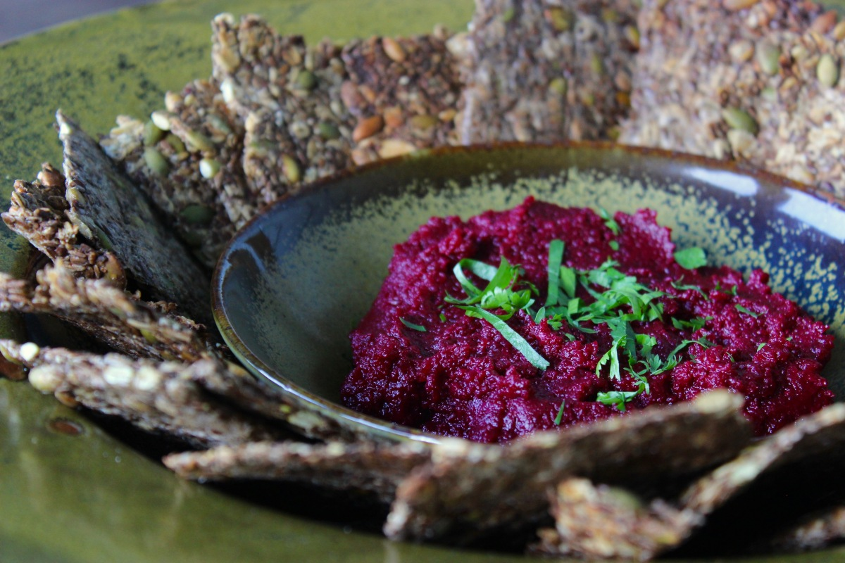 Beet Caviar with Lime and Pepitas