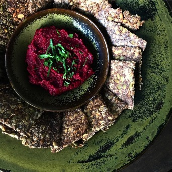 Beet Cavia with Lime and Pipits https://bigsislittledish.com/2017/08/15/beet-caviar-with-lime-and-pepitas/