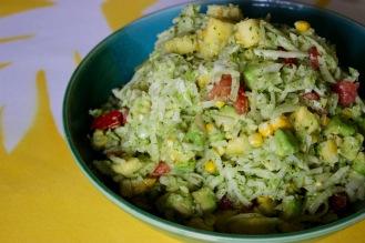 Jicama and Corn Slaw with Avocado https://bigsislittledish.com/2018/07/22/jicama-and-corn-slaw-with-avocado/
