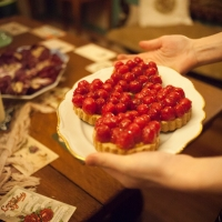 Passionfruit Raspberry Tart (vegan and gluten-free)