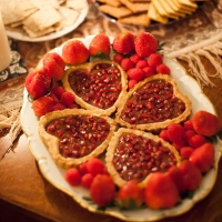 Pomegranate Tart with Pink Peppercorns (gluten-free)