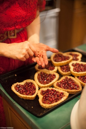Pomegranate Tarts with Pink Peppercorns