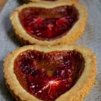 Blood Orange Broken Heart Tarts (gluten-free)